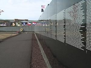 The memorial is in Dubuque through Monday.