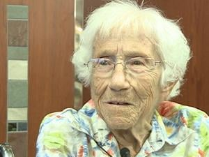 Dubuque centenarian Clara Richman said being friendly to people is one key to a long and happy life.