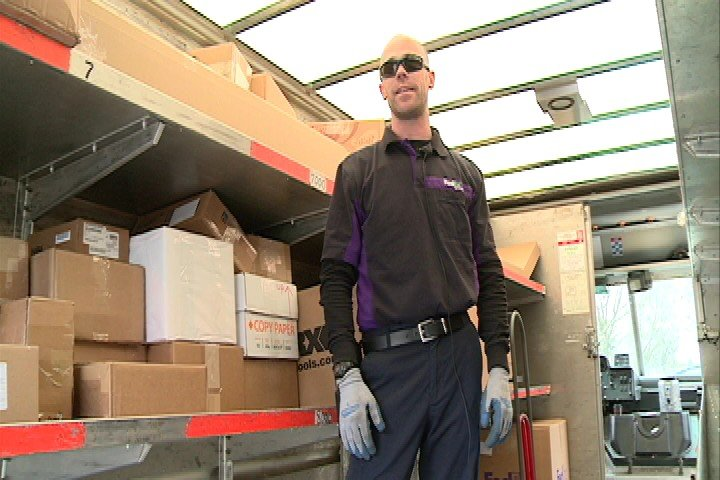 Waterloo route driver Adam Beckman has been working with FedEx for nine years.