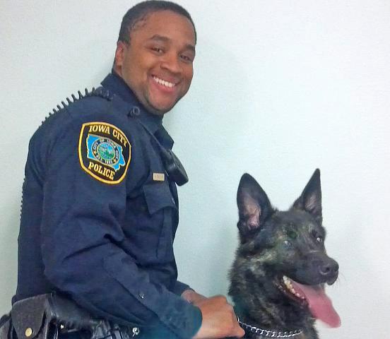 Officer Brandon Faulkcon and Rakker