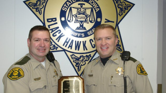 2012 Deputy of the Year George Wright with Sheriff Tony Thompson