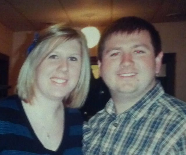 Adam Schneider and his wife