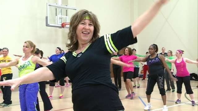 Penie Aalderks, a Zumba instructor who teaches for free