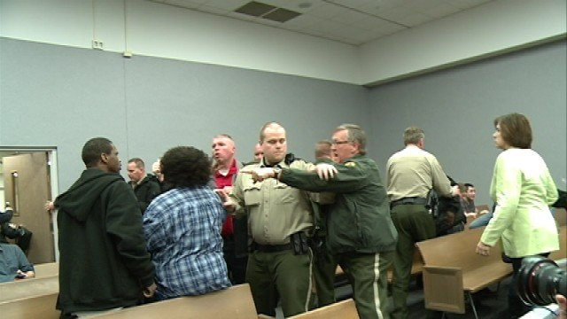 Courtroom fighting during Ambrose sentencing