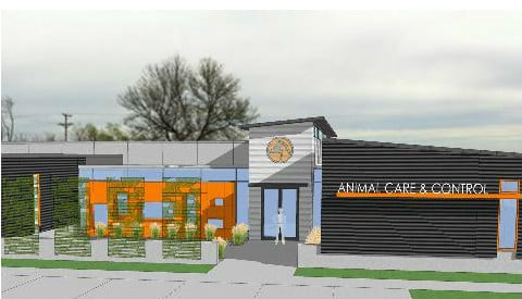A rendering of the new animal control facility in Cedar Rapids