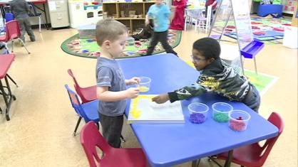 Students at a Dubuque Head Start