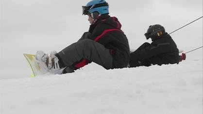 Snowboarders at Sundown Mountain in Dubuque