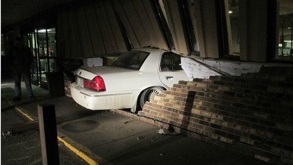 A car inside J.W.'s in Kalona