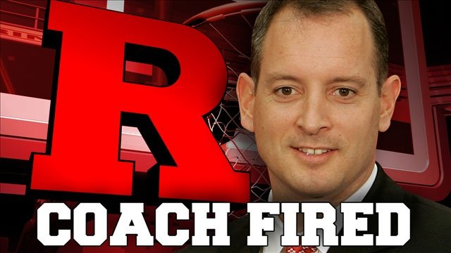 Rutgers coach Mike Rice was fired Wednesday