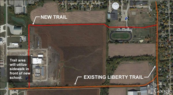 The new Independence Community School District trail
