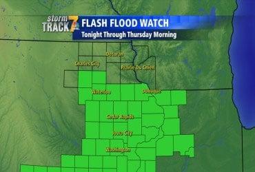 Flash Flood Watch counties