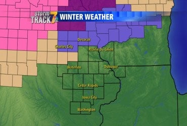 Winter Weather advisory counties