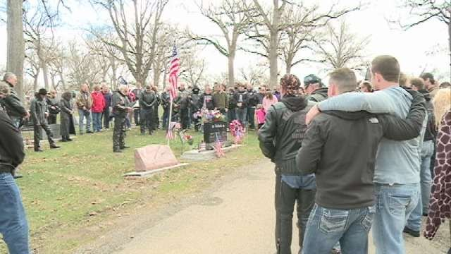 Dozens of family members and friends remembered Donny Nichols on the anniversary of his death.