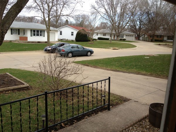 Viewer Tory Stoffregen said the device -- seen as a white shape on the right side of the photo -- is in his yard.