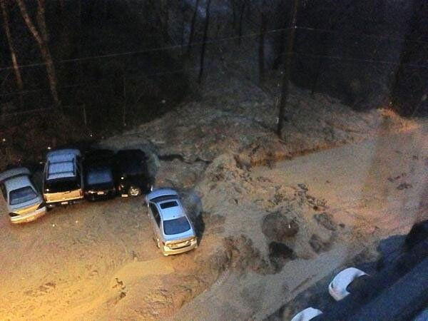 Viewer-submitted photo of Mayflower parking lot