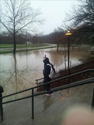 Viewer-submitted photo of street in front of Mayflower