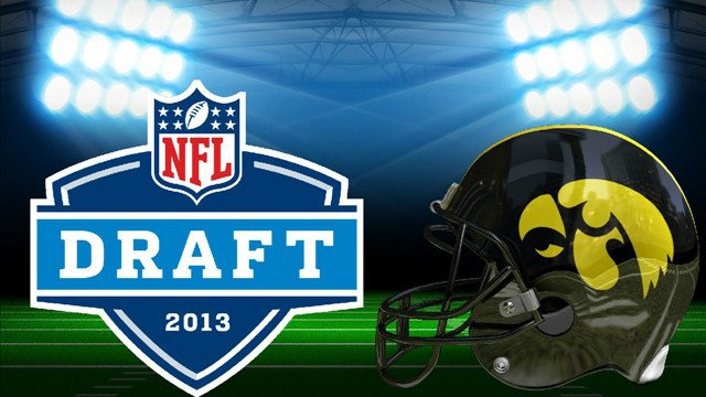 Five former Hawkeyes are hoping to hear their names called during the 2013 NFL Draft which begins Thursday night in New York City.