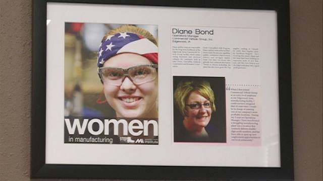 Diane Bond's bosses nominated her for the Women in Manufacturing STEP Award. It recognizes outstanding women in the industry of science, technology, engineering and production.