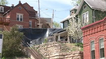One Dubuque couple is out of their home after a retention wall the city owns collapsed.