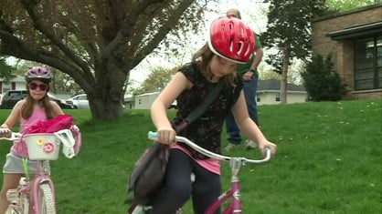 Kids across eastern Iowa went to school on two wheels Wednesday.