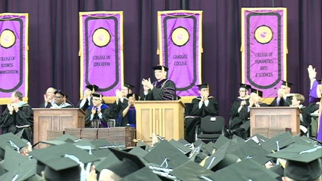 The University of Northern Iowa is home to more than 1,600 spring graduates. Commencement ceremonies happened at the McLeod Center on Friday and Saturday.