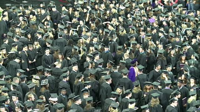A lot of graduates were excited to receive their diplomas, even though many of them admit the future is still uncertain.