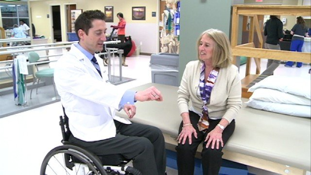 After the accident, Yonnet decided to specialize in rehabilitation -- specifically working with spinal cord injuries, amputations, brain injuries, strokes and multiple sclerosis.