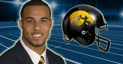 Former Iowa Hawkeye football star Micah Hyde returned to eastern Iowa recently to give back by presenting donated items to the Boys and Girls Club of Cedar Rapids.
