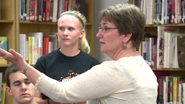 """""""She's done a lot for the speech team, and she's really made the West Delaware Speech Team known around the state,"""" said student Taylor Klostermann. """"It just has a lot of good things going for it."""""""