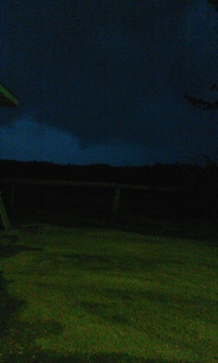 Possible funnel cloud in New Hampton sent in by viewer Lisa Perkins