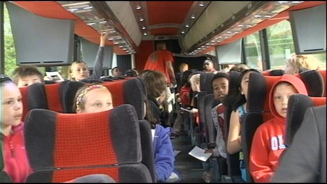 Some Cedar Valley elementary students are getting a unique look at the area's history -- through the eyes of other students who live there.
