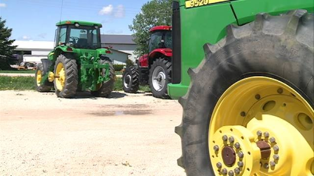 """Record corn prices are putting a little extra cash in farmer's pockets, and they're spending it on farm equipment, benefiting local companies like Burco Sales in Independence.  """"Very busy,"""" said Shane Beatty with Burco. """"Not enough hours in the day."""""""