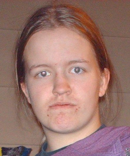 """Kathlynn Shepard is 5'6"""", weighs 160 pounds and has blonde hair, blue eyes and braces."""