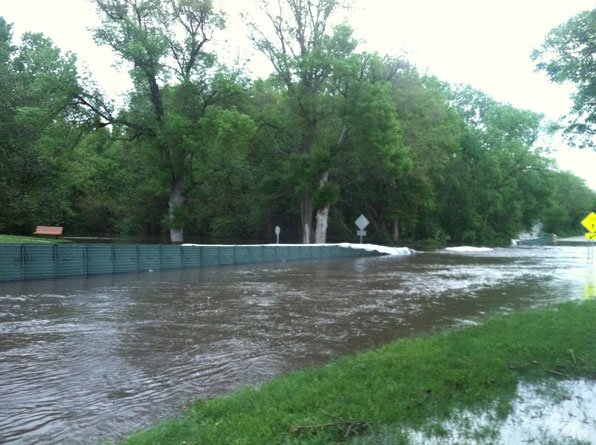 Flooding in Waverly on Wednesday morning