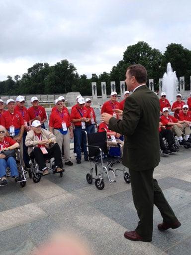 U.S. Rep. Bruce Braley spoke to veterans.