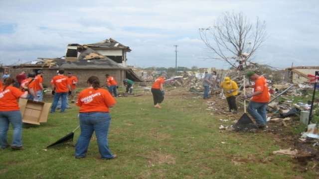 Volunteers from a Cedar Falls church are back in Iowa after assisting disaster relief efforts in Oklahoma.