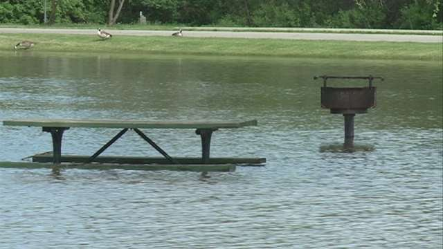 After re-opening on Monday morning, George Wyth State Park closed again on Monday evening due to flooding on the Cedar River.