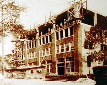 Construction of the original building