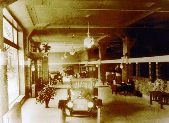 Interior of the former car dealership