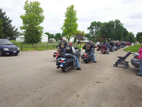 Jim Will said 66 riders raised $2,072 for the National Center for Missing and Exploited Children.