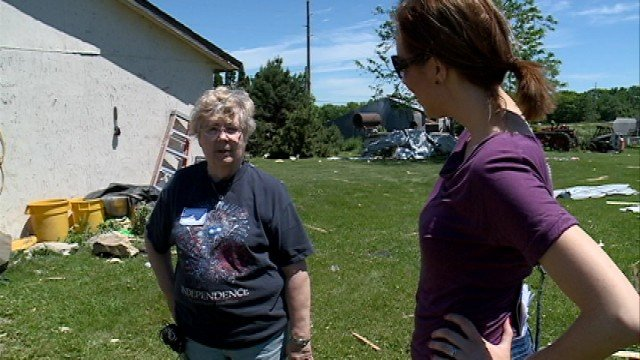 Delores Sturm talks to KWWL's Shelley Russell. Sturm said she's lucky to be alive.