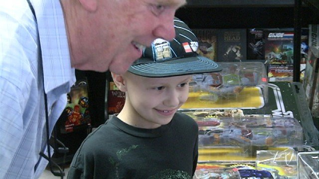 Jacob took photos with the Star Wars characters, picked out souvenirs and got lots of autographs.