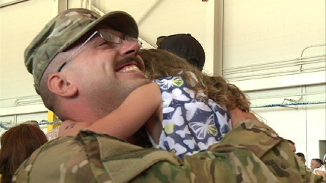 Fifty soldiers with the 2-211th General Support Aviation Battalion came home around 11 a.m. Tuesday after serving in Afghanistan for almost a year.