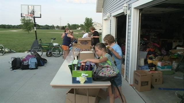 A month ago, a group of kids from Shell Rock began collecting school supplies for students affected by the tornado that destroyed parts of Moore, Okla.