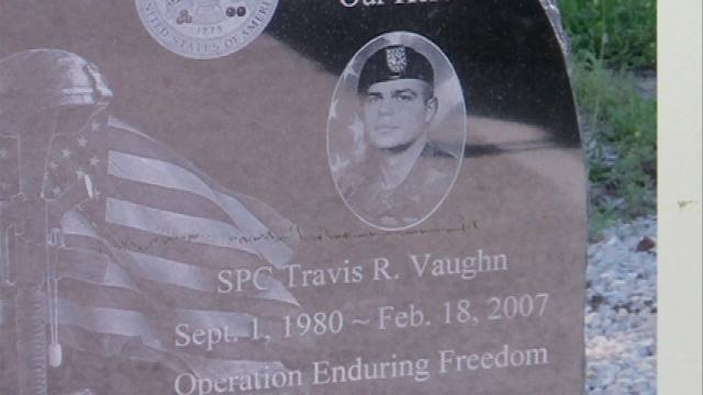A memorial monument is on its way to eastern Iowa in honor of Army Specialist Travis Vaughn.