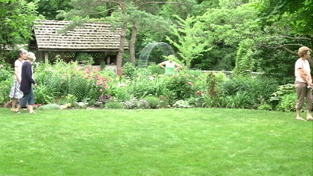 Gardens were in the spotlight in Iowa City Sunday.