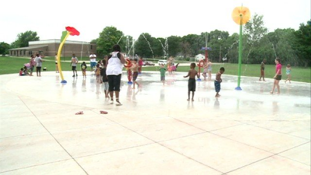 Despite some cloudy weather, people made their way to a new water park that opened up in Iowa City Sunday.