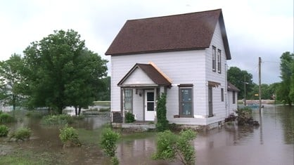 According to emergency management officials, Lowden was the hardest-hit town in Cedar County.
