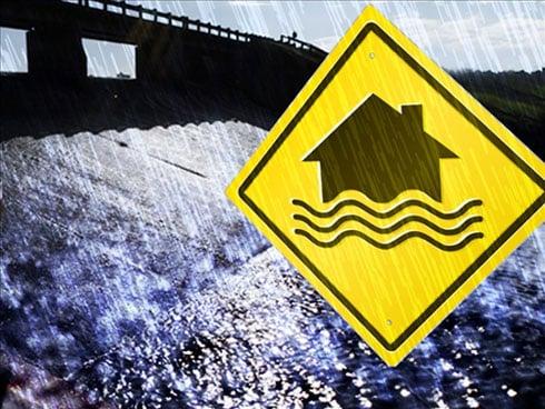 In an effort to prevent flooding, sandbagging efforts began Tuesday evening in New Hartford.