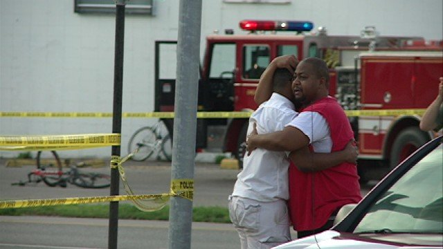 Those who knew Matlock comforted each other at the crime scene Tuesday evening.